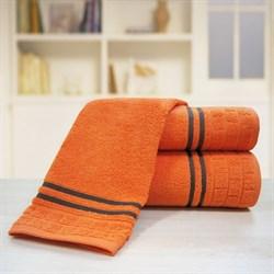 """Махровое полотенце """"Лана"""" оранж. 50x90 (Х)"""