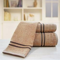 """Махровое полотенце """"Лана"""" коричн. 33x70 (Х)"""