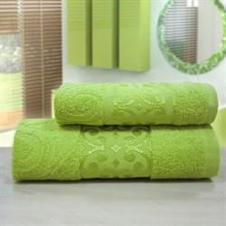"""Махровое полотенце """"Роксолана"""" зел 70x140"""