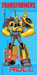 """Махровое полотенце """"Transformers"""" 1087 син. 33x70 (Х)"""