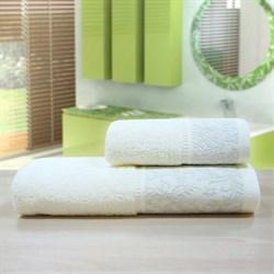 """Махровое полотенце """"Белиссимо"""" крем. 50x90 (Х)"""
