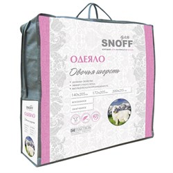 Одеяло для Snoff евро овечья шерсть всесезонное 200*215